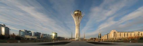 KAZACHSTAN ASTANA OCT 20: widok Bayterek na Październiku 20, 2008 Zdjęcie Stock