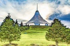 kazachstan astana Winkelcentrum ` Khan Shatyr ` royalty-vrije stock afbeelding