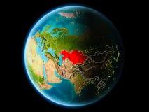Kazachstan in de avond Stock Afbeelding