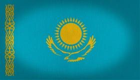 Kazachstan flaga Fotografia Royalty Free