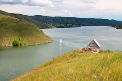 Kazachstan, Irtysh rzeka, góra krajobraz Zdjęcie Royalty Free