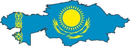 ' kazachstan mapa Zdjęcia Stock