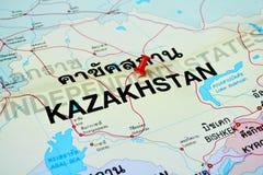 Kazachstan mapa Zdjęcie Royalty Free