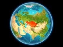 Kazachstan op aarde Stock Afbeeldingen