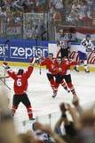Kazachstan vs. Węgry IIHF mistrzostwa lodowego hokeja Światowy dopasowanie Fotografia Royalty Free