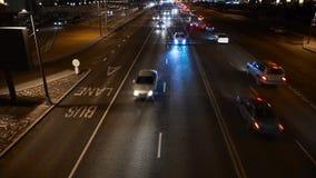Kazajistán, Astaná En noviembre de 2016 Tráfico de la noche metrajes
