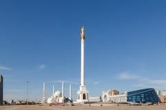 Kazak eli Stella. Independent symbol of Kazakhstan. Astana Stock Photo