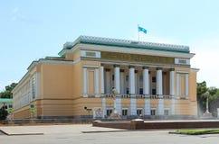 Kazakh academisch die theater na Abai wordt genoemd royalty-vrije stock foto's