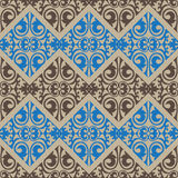 Kazakh, Asian, floral, floral seamless pattern. Royalty Free Stock Photography