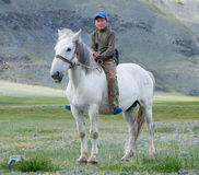 Kazakh boy Stock Images