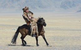Kazakh Buzkashi Stock Images