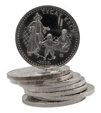 Kazakh Coins Royalty Free Stock Photos