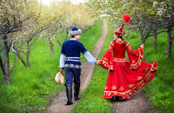Kazakh couple in love Stock Images