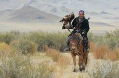 Kazakh Eagle Hunter 1 Stock Afbeeldingen