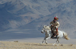 Kazakh Eagle Hunter 3 Imagen de archivo