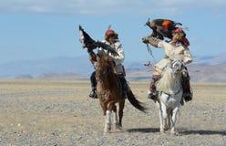 Kazakh Eagle Hunter 3 Stock Afbeelding
