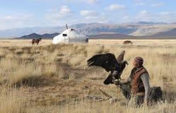 Kazakh Eagle Hunter 4 Stock Fotografie