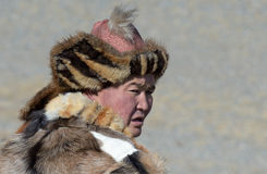 Kazakh Eagle Hunter close-up 2 Stock Image