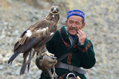 Kazakh Eagle Hunter close-up 4 Stock Image