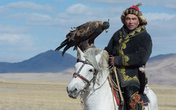 Kazakh Eagle Hunter 3 Royalty Free Stock Photography