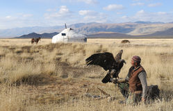 Kazakh Eagle Hunter 4 Stock Photography