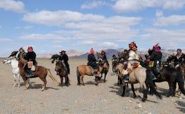 Kazakh Eagle Hunters 1 Royalty-vrije Stock Fotografie