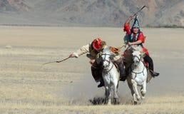 Kazakh Eagle Hunters 2 Royalty Free Stock Image