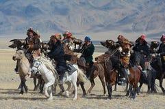 Kazakh Eagle Hunters 2 Royalty Free Stock Images
