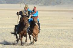 Kazakh Eagle Hunters 4 Royalty Free Stock Images