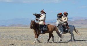 Kazakh Eagle Hunters 7 Stock Images