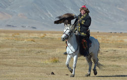 Kazakh Eagle Hunters 8 Royalty Free Stock Photography