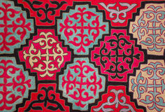 Kazakh felt carpet 5 Royalty Free Stock Photos