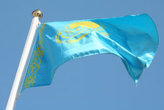 Kazakh flag Royalty Free Stock Image