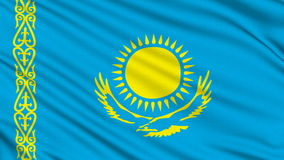 Kazakh Flag. Stock Photography
