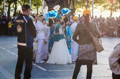 Kazakh Folk Dancers On National Sovereignty and Children`s Day - Turkey Stock Photography