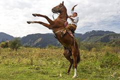 Free Kazakh Horse Rider, Almaty, Kazakhstan Royalty Free Stock Photos - 109614258