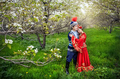 Kazakh love in Spring Stock Images