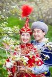Kazakh love in Spring Stock Images