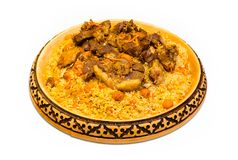 Kazakh meal plov royalty free stock image