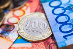 Kazakh money - tenge Stock Images