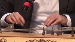 Kazakh musical instrument - Zhetigen stock video