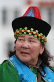 Kazakh old woman Royalty Free Stock Images
