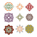 Kazakh ornament set of elements. Ethnic pattern. Kazakhstan national style ornament. Traditional element for Kazakhstans textur royalty free illustration