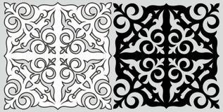 Kazakh patroon Royalty-vrije Stock Afbeelding