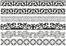Kazakh patroon Stock Afbeelding