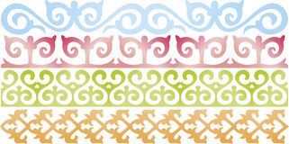 Kazakh pattern. Pattern in traditional national style of Kazakhstan. A design elements Stock Photos