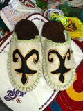 Kazakh slippers Royalty Free Stock Image