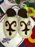 Kazakh slippers Royalty Free Stock Image