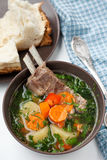 Kazakh soup with mutton - shurpa Royalty Free Stock Images