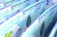 Kazakh Tenge Closeup Stock Image